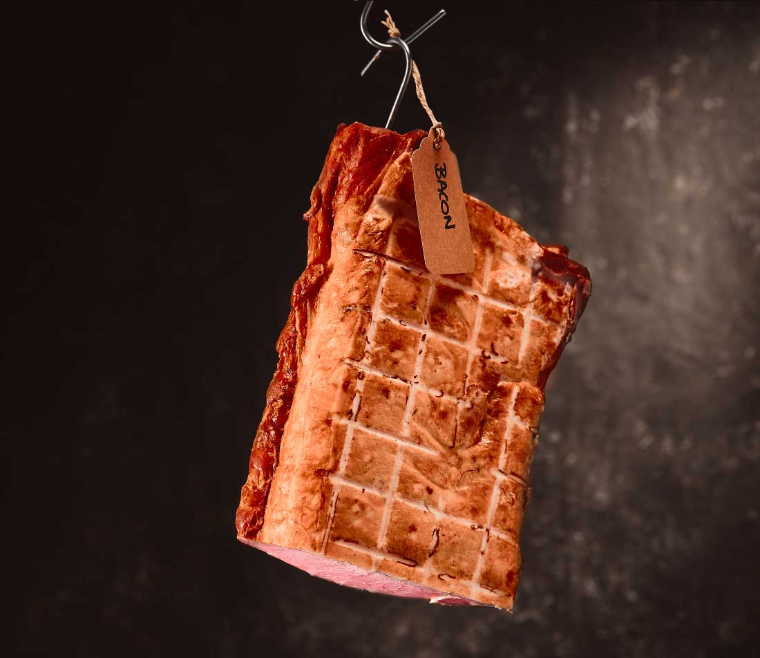 Short rindless bacon